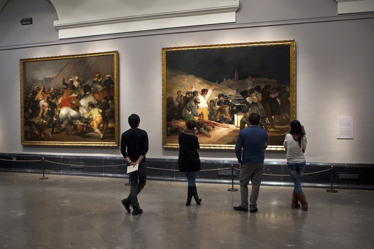 The famous Third of May painting by Francisco Goya