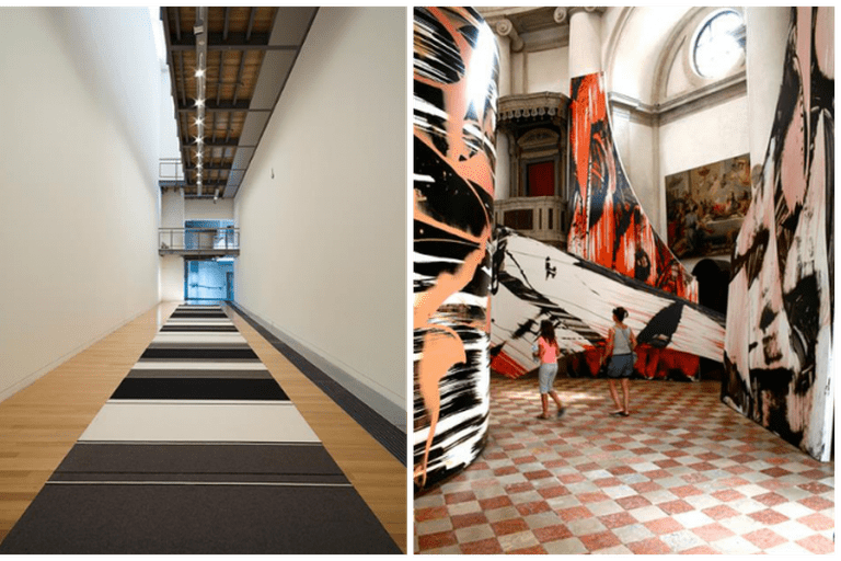 Left: Peter Robinson, Cuts and Junctures, 2013, Adam Art Gallery