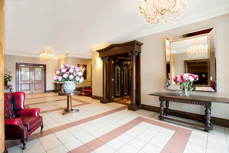 The lobby at The Victoria Hotel, Galway