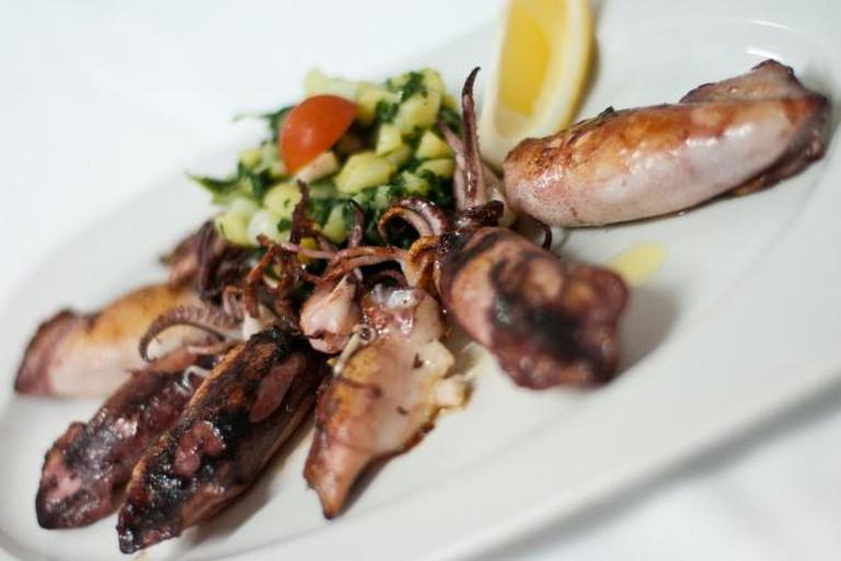 Stuffed Calamari with Mozzarella and Dalmatian Prosciutto