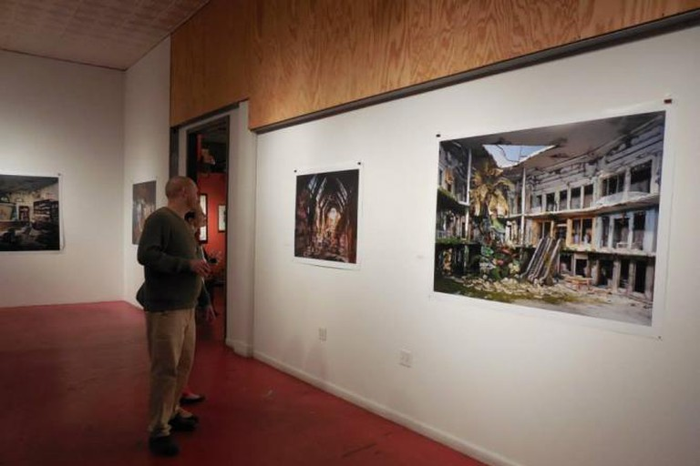 """At the """"French Masters"""" and """"Lori Nix: The City"""" reception"""