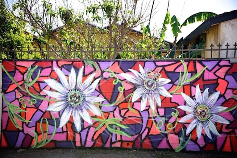 A mural by Andrea LaHue, a.k.a. Random Act