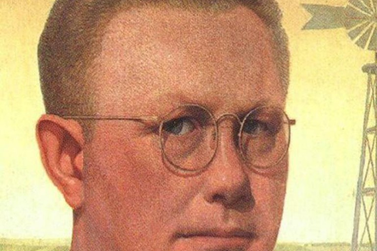 Grant Wood, Self-Portrait, Figge Art Gallery, 1925
