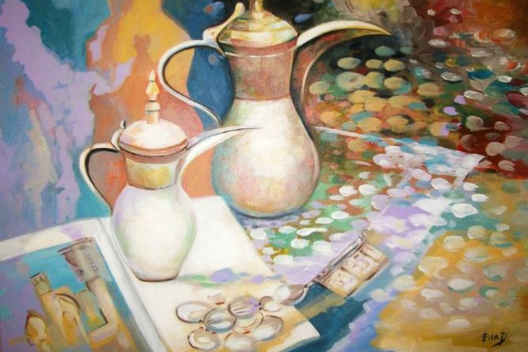 Bahraini Coffee Pots, Acrylic on Canvas