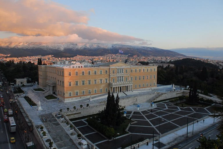 The Hellenic Parliament building in Athens