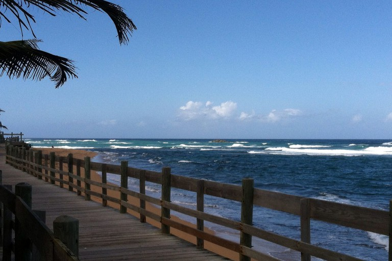 Boardwalk at Piñones in Puerto Rico
