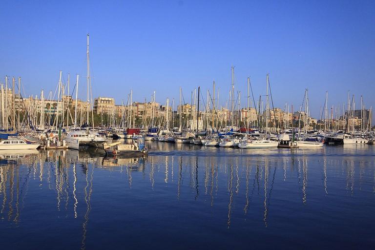 Barcelona's marina Port Vell