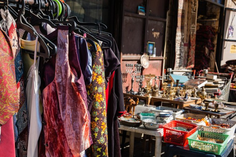Colourful racks and displays make shopping at Seville's vintage stores irresistible