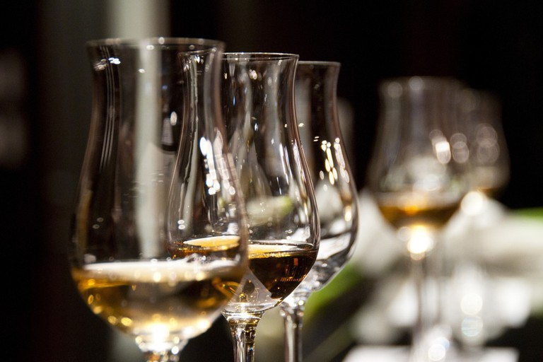 Glass of wine at Kvartira 44