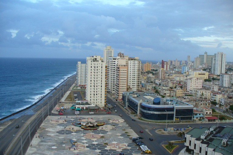 View of the Malecón from the Riviera Hotel