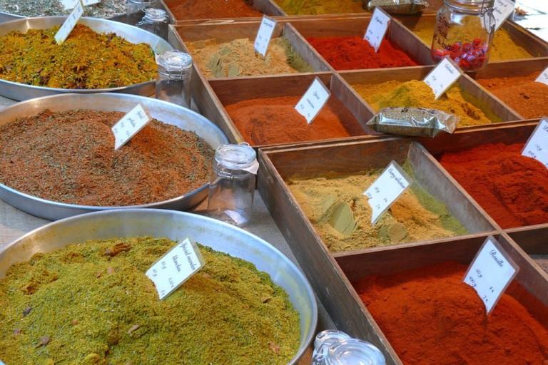 Check out the beautiful fragrant spices in the market at Saint-Rémy-de-Provence