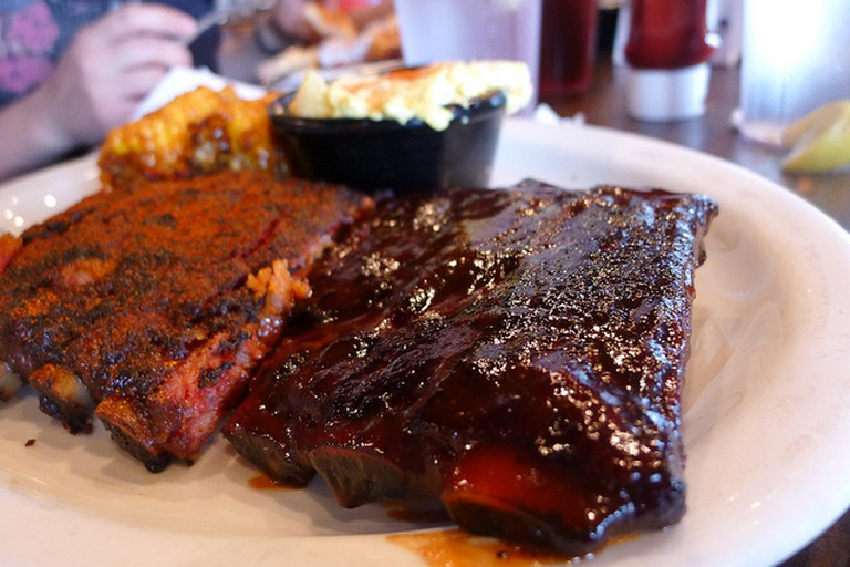 Southern barbecue ribs