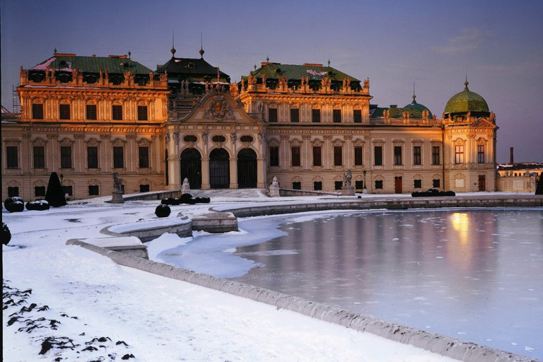 Museums: Belvedere Palace, winter