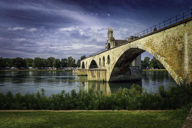 The Bridge Saint-Bénézet in Avignon that famously doesn't go anywhere