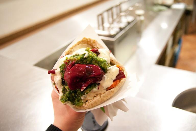 A Maoz sandwich