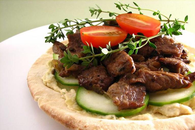 Pita with hummus