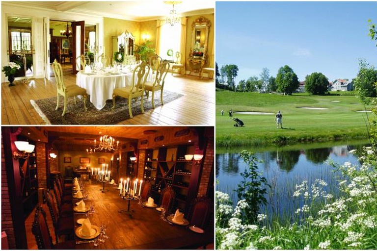 A few of the beautiful rooms and golf at Losby Gods