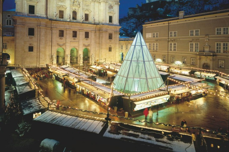 Christmas market in Salzburg winter