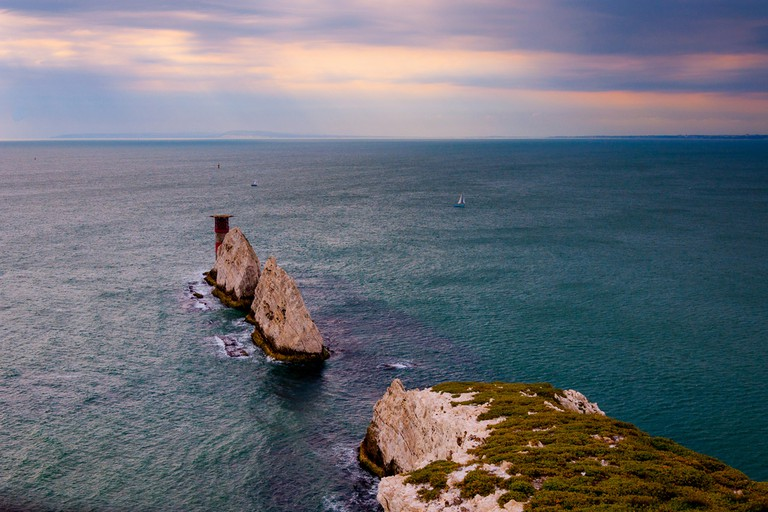 The Needles, lighthouse, Isle of Wight, UK