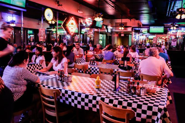 Interior of Acme Oyster House