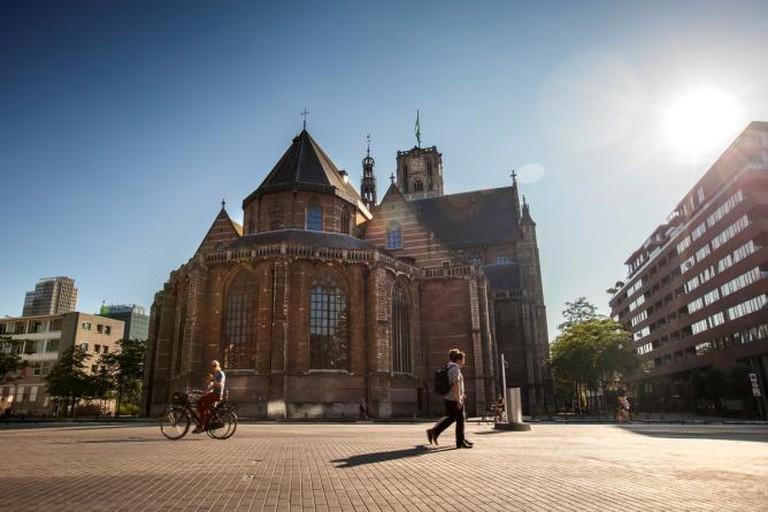 Grote of Sint-Laurenskerk from behind