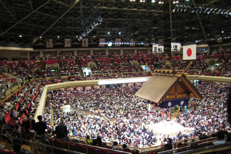 Ryōgoku Kokugikan is the largest sumo hall in Japan