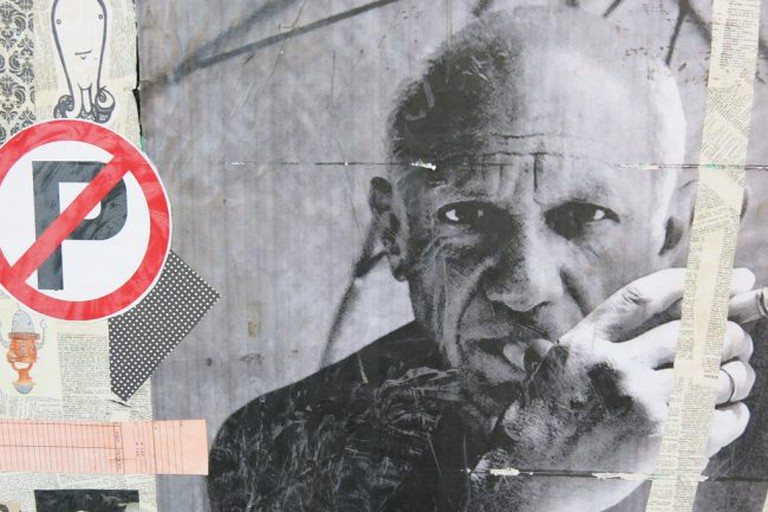Pablo Picasso, as depicted by street art in San Francisco