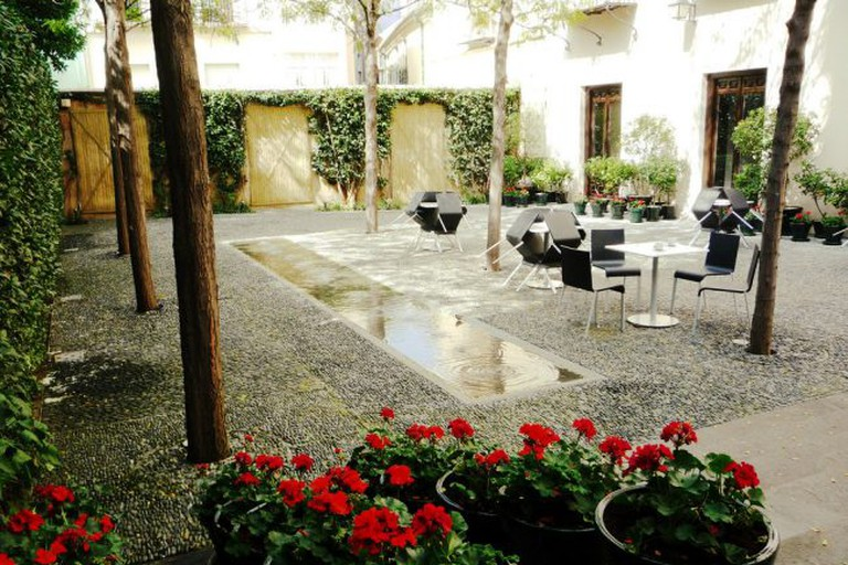 Internal courtyard in the palace that houses Malaga's Picasso Museum