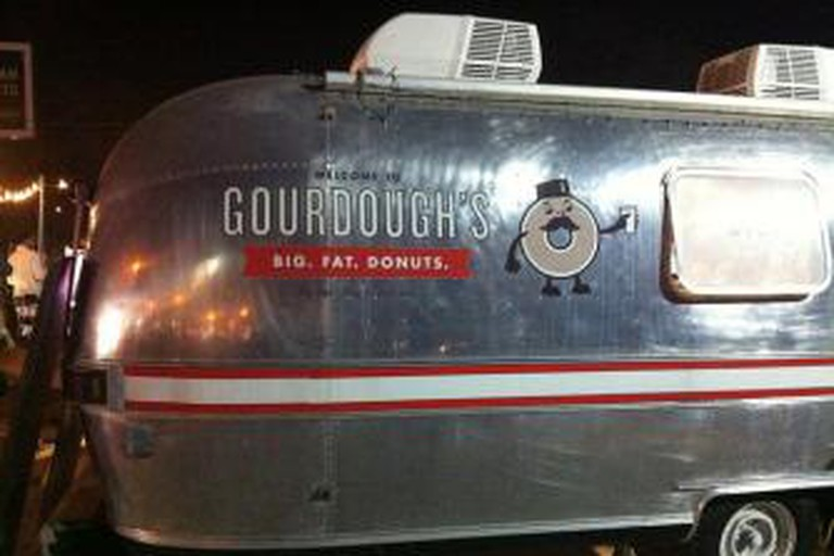 Gourdoughs Trailer and Mascot