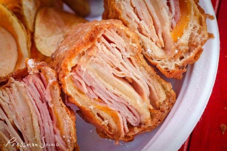 Texas-style ham sandwich