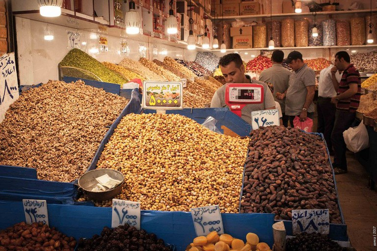 Nuts for sale in the bazaar