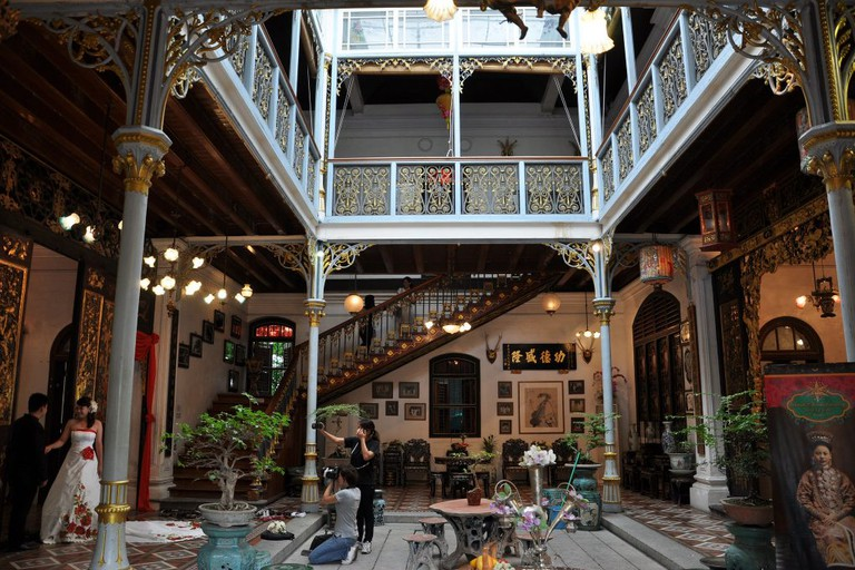 Inner courtyard of Pinang Peranakan Mansion