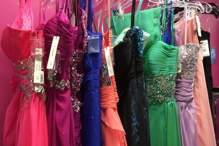 Designer party dresses are a speciality in Seville's fashion boutiques