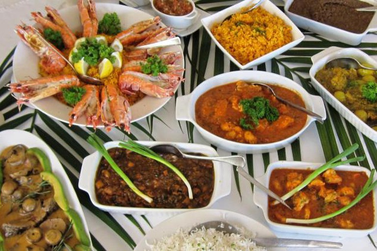 A Selection of Ile Maurice Dishes