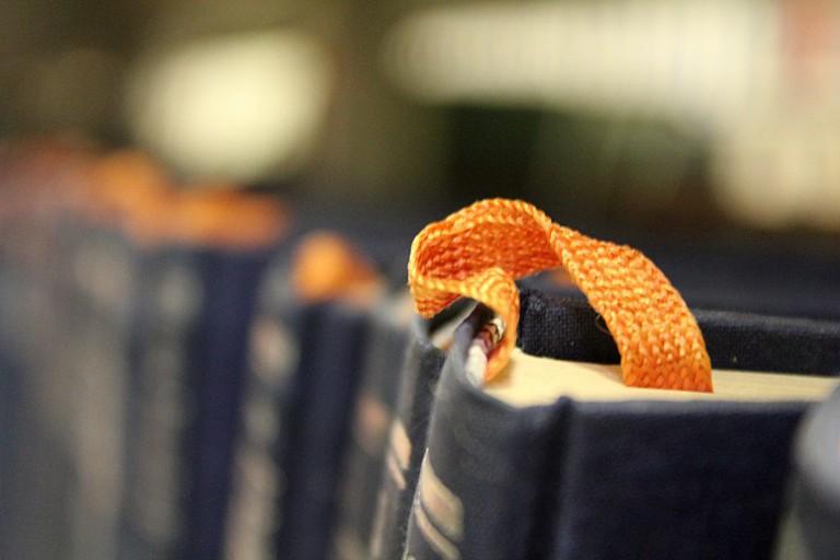 Orange bookmark