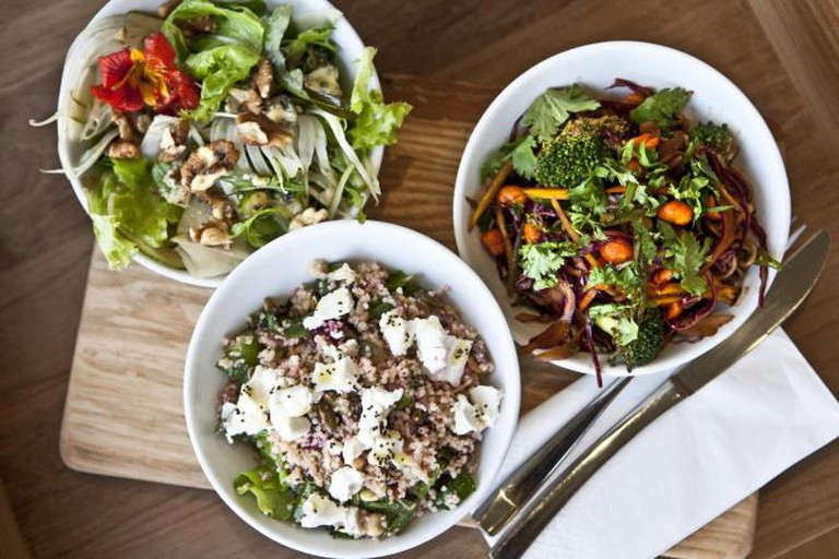 Signature salads at Waterloo Tea Rooms