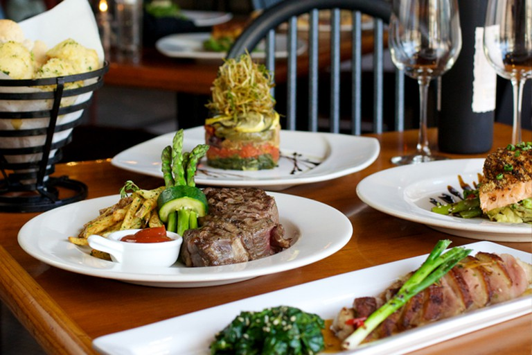 A selection of David's Restaurant's signature dishes