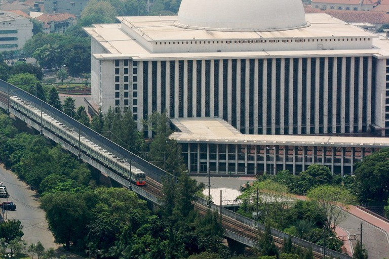 The majestic Istiqlal Mosque in Jakarta