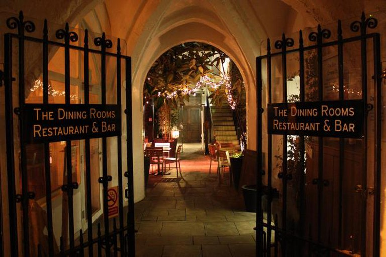 The Dining Rooms' Courtyard