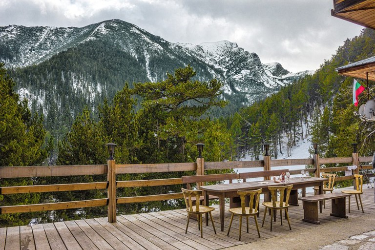 Yavorov mountain lodge in Pirin, Bulgaria