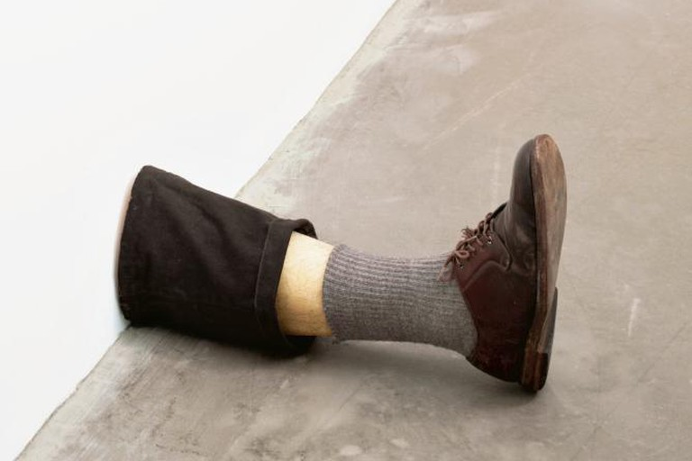 "Robert Gober, Untitled Leg. 1989 – 1990, 11 3/8 x 7 3/4 x 20"" (28.9 x 19.7 x 50.8 cm) 
