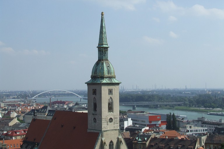 St. Martin's bell tower is a prominent feature of Bratislava's skyline