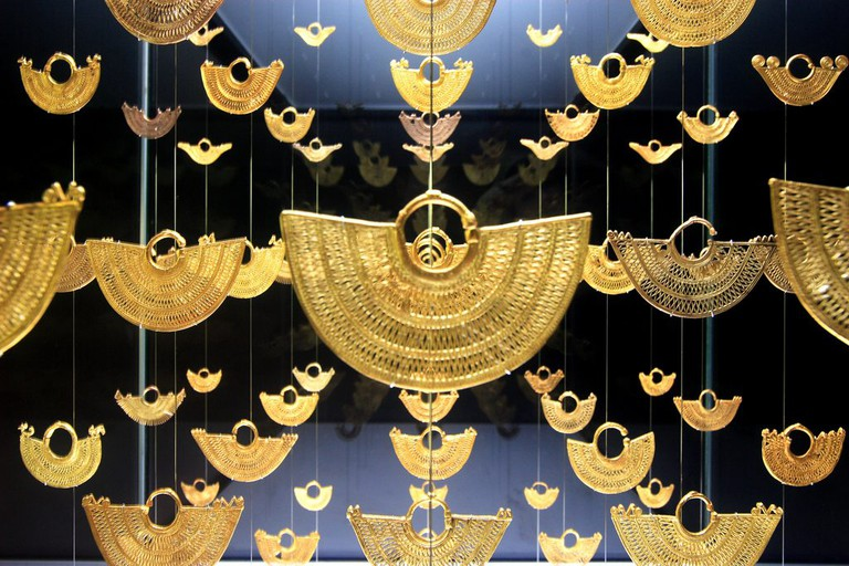 Stunningly intricate gold artwork by the Zenú people