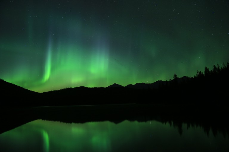The Northern Lights in Jasper National Park