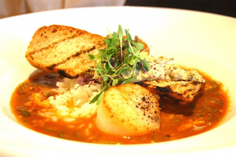 Scallop and lobster stew