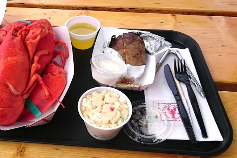 Twin hardshell lobster