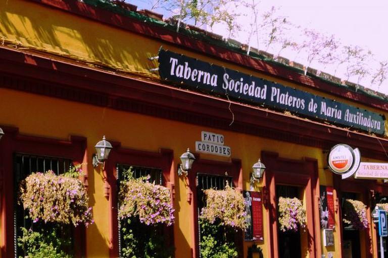 Facade of Restaurante Sociedad Plateros María Auxiliadora, Córdoba