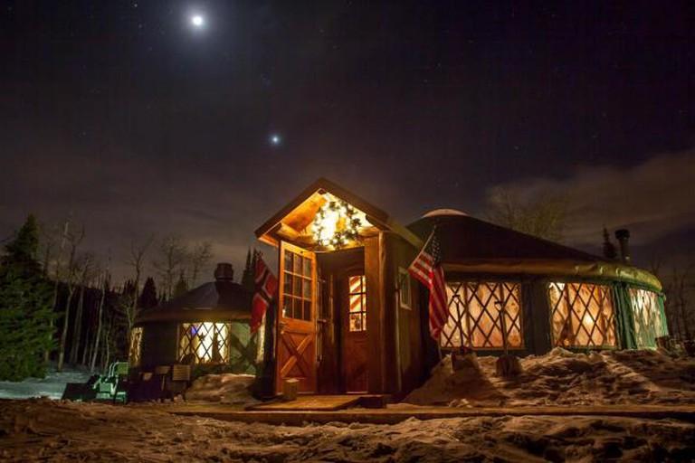 Exterior View of The Viking Yurt