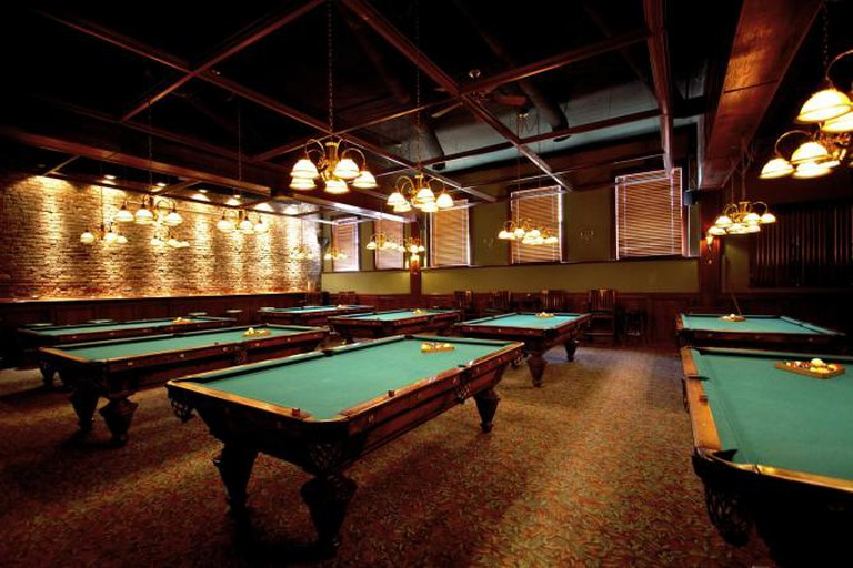 The pool hall