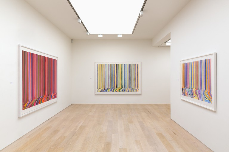 Ian Davenport, Melismatic at Alan Cristea Gallery 2017